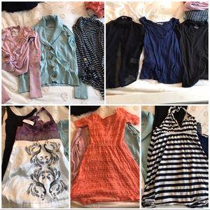 Tops - 9 pc Lot Bundle of Dresses Cardigans Tops Flawed